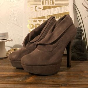 Taupe target brand platform heels 5.5